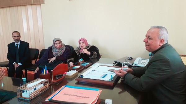 """التعليم العام بمديرية شمال غزة يناقش """"الأبحاث الإجرائية"""" لرياض الأطفال"""