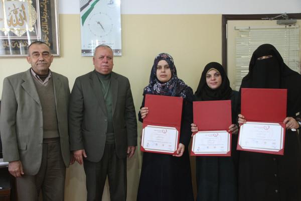 مدير تعليم الشمال يكرّم مدرسة نسيبة بنت كعب (أ) لتأهلها بدورة إلهام فلسطين