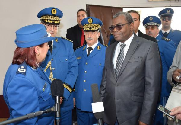 الأمين العام لوزارة الأمن والحماية المدنية المالي في زيارة للمدرسة العليا للشرطة