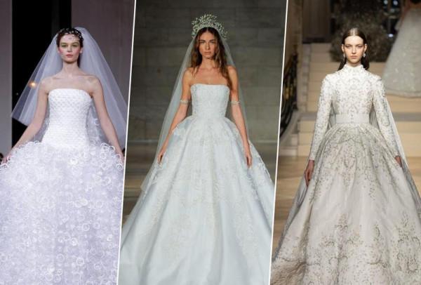 8606fe0b5ec33 فساتين زفاف على طراز الأميرات موضة 2019