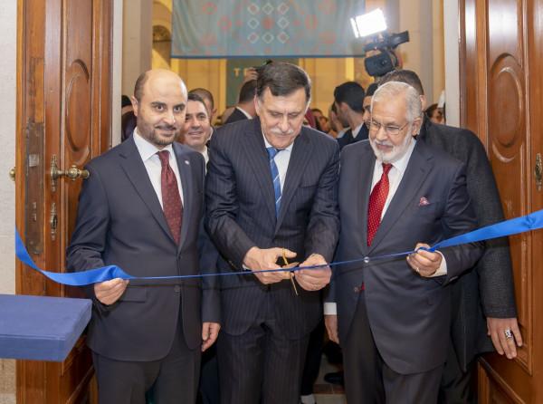 رئيس الدولة الليبية يشارك في استضافة معرض أوفيد