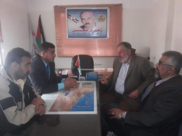 قيادة حركة الائتلاف الوطني تزور القيادة القطرية للتنظيم الفلسطيني ل حزب البعث