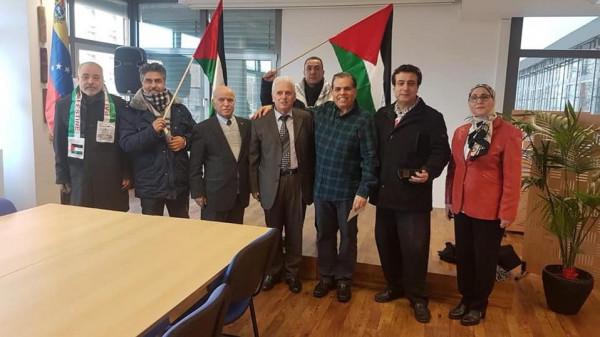 وفد من هيئة المؤسسات والجمعيات الفلسطينية والعربية في برلين السّفارة الفنزويلية