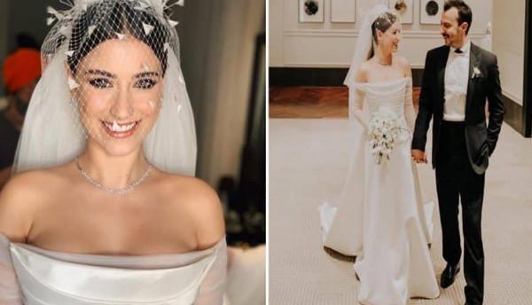 هازال كايا تحتفل بزفافها على الممثل علي أطاي.. وجمالها يخطف الأنظار