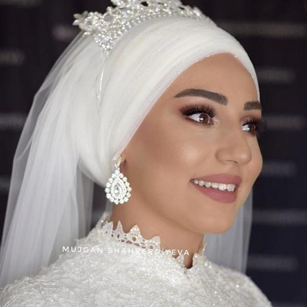 لفات حجاب تركية للعروس من إنستقرام