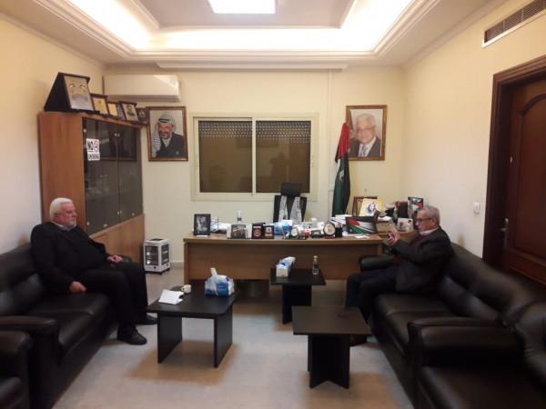 أبو العردات يستقبل الأمين العام لمركز الخيام لتأهيل ضحايا التعذيب محمد صفا