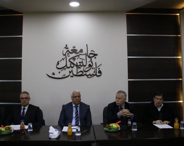 مجلس جامعة بوليتكنك فلسطين يعقد اجتماعه الأول للعام 2019