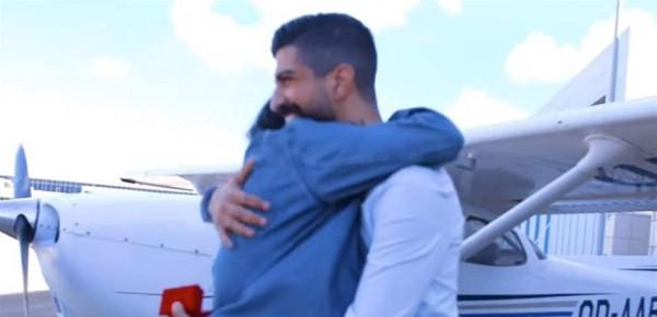 """لبناني """"يخطف"""" حبيبته ثم يطلب يدها من على متن طائرة خاصة"""