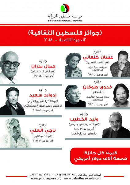 عبد الرحمن: استمرار تسلم مشاركات جوائز فلسطين الثقافية للدورة الثامنة