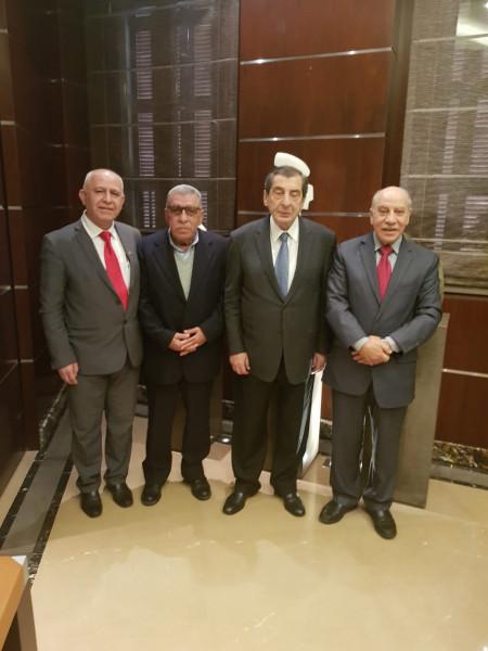 الديمقراطية تلتقي الرئيس الفرزلي وتعرض معه قضايا فلسطينيي لبنان والتطورات