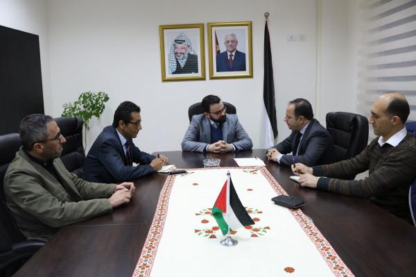 بسيسو يستقبل مدير مكتب (يونسكو) في فلسطين