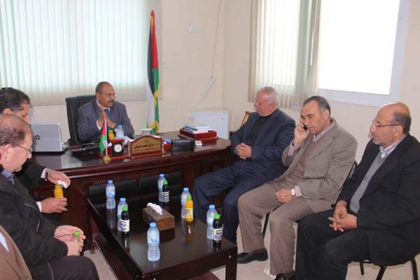 جامعة فلسطين فرع الشمال تستقبل وفداً من مديرية تعليم الشمال