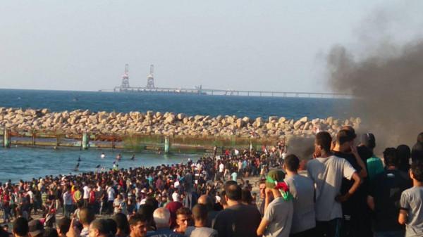 إصابات برصاص الاحتلال الإسرائيلي خلال فعاليات المسير البحري شمال القطاع