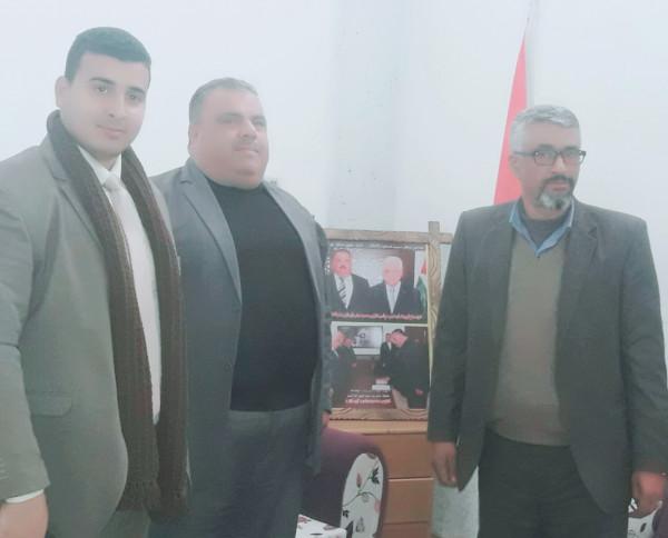 قيادة حركة الائتلاف الوطني تزور صلاح أبو وردة محافظ شمال غزة