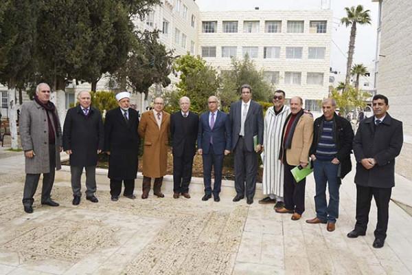 رئيس مجلس أمناء جامعة الخليل يستقبل سفير المملكة المغربية لدى فلسطين