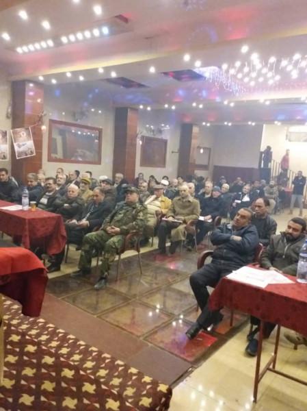 الجبهة الديمقراطية في مخيم النيرب تحيي ذكرى انطلاقتها الخمسين