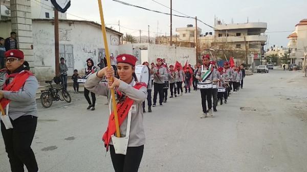 أريحا: الجبهة الديمقراطية تحي ذكرى انطلاقتها الـ50 بمسيرة كشفية