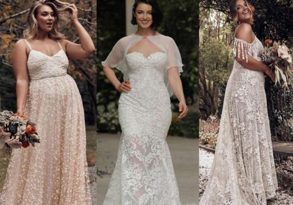 ca073baddb86e أجمل فساتين زفاف 2019 للعروس الممتلئة