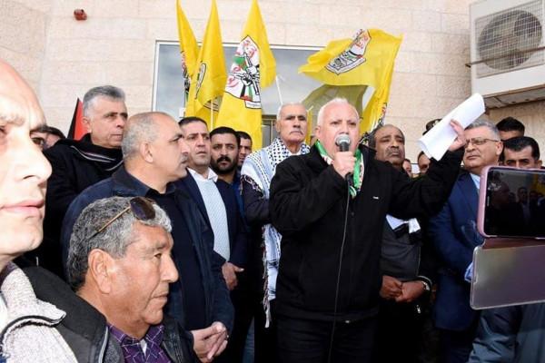 حركة فتح تنظم مسيرة دعما للرئيس ابو مازن في سلفيت