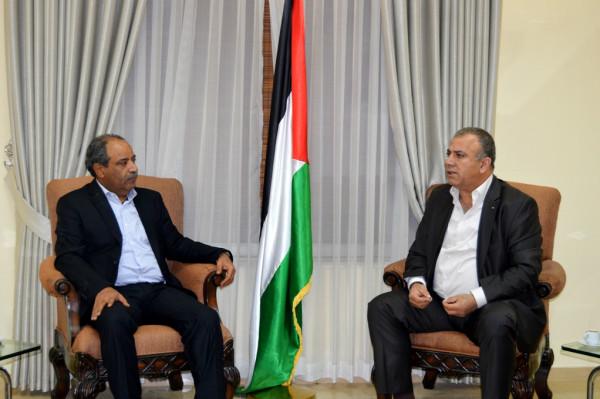 محافظ سلفيت يلتقي رئيس هيئة الصناديق العربية والإسلامية