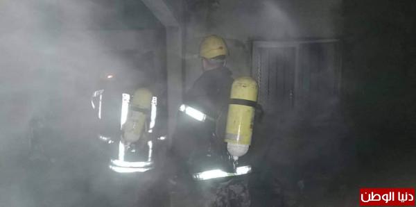 سرعة إستجابة طواقم الإطفاء تحمي مصنع من الإحتراق في قلقيلية