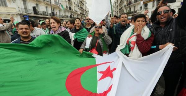 """احتفالات في الجزائر بعد إعلان """"بوتفليقة"""" عدم ترشحه للرئاسة"""