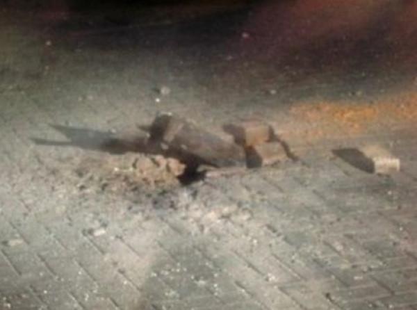 """شاهد: لحظة سقوط صاروخ في """"تل أبيب"""""""