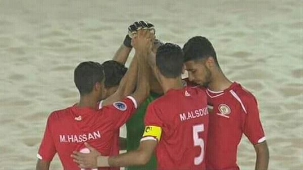 منتخب الكرة الشاطئية يهزم لبنان ويصعد للدور نصف النهائي