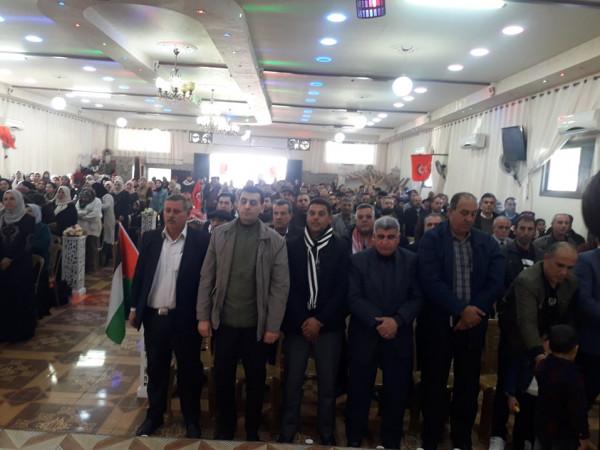 الديمقراطية تحيي ذكرى انطلاقتها الخمسون في محافظة جنين في بلدة يعبد
