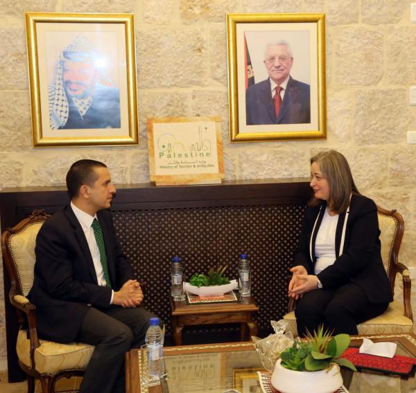 فلسطين وتركيا تبحثان التعاون في المجال السياحي