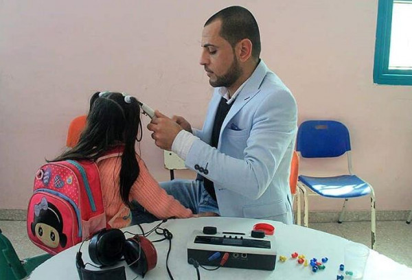 إعمار تنظم أيام طبية مجانية لفحص السمع والنطق والبصر بخانيونس