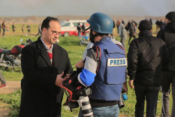 """""""لجنة دعم الصحفيين"""" تدين استهداف الاحتلال للصحفيين في غزة والضفة"""