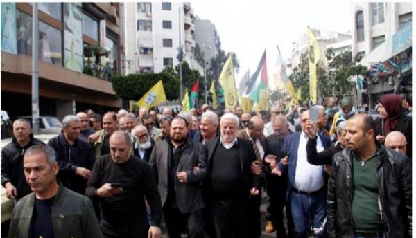 مسيرة في بيروت دعمًا لغزة وتكريما للشهيد ابو ليلى