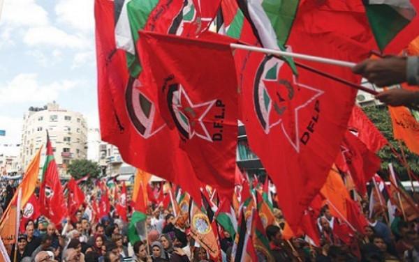 """""""الديمقراطية"""" تدين قرع حكومة إسرائيل طبول الحرب وتحذر من امتداد المعركة لكل مكان"""