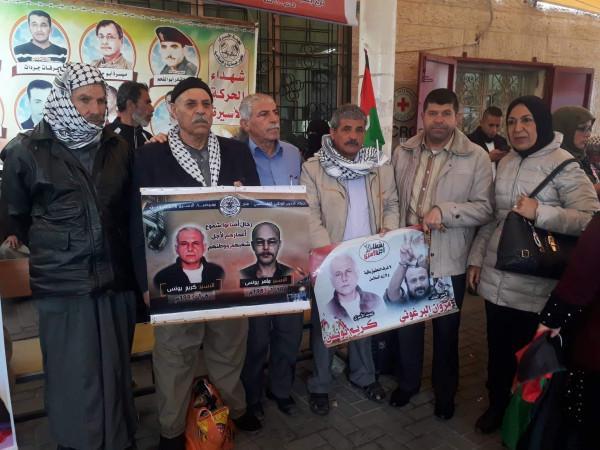 التجمع الفلسطيني للوطن والشتات يشارك بالوقفة التضامنية مع الأسرى