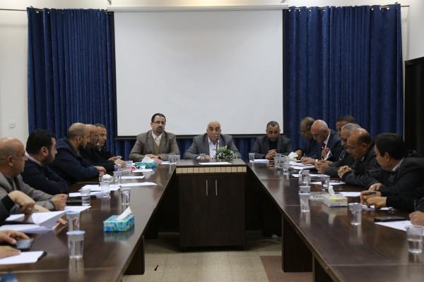المحافظ ابو العسل يترأس اجتماع المجلس التنفيذي