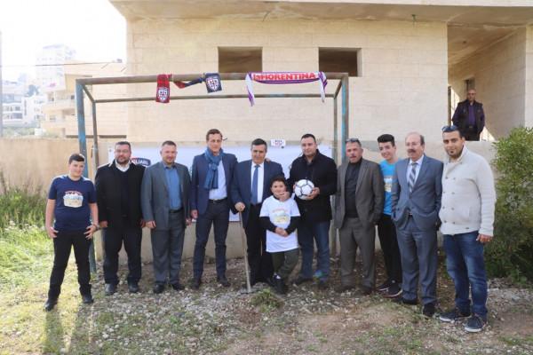 دعم إيطالي لمشروع الملعب المصغر في بيت لحم