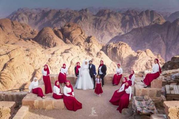 """""""لو ده جنان اتجوز"""".. أغرب أماكن حفلات الزفاف منها """"قمة جبل موسى"""""""