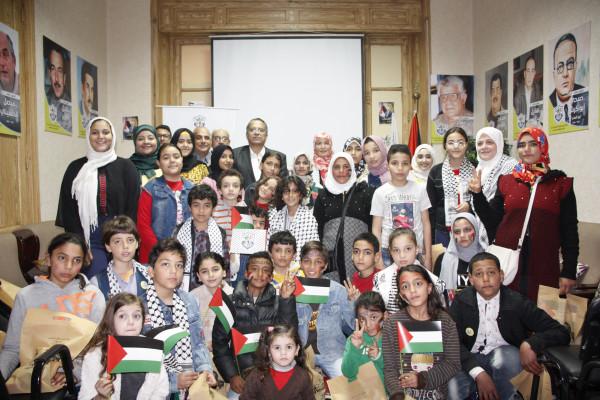 حركة فتح في مصر تحتفل مع أطفال فلسطين بيوم اليتيم