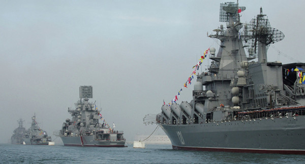 Russian warships interconnect in the Black Sea in conjunction with NATO maneuvers