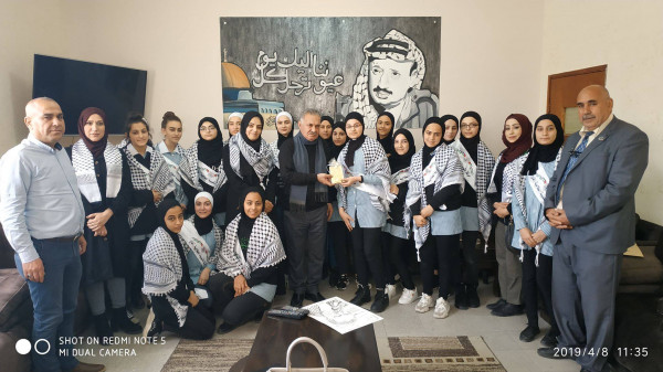 شبيبة ابو علي اياد الثانوية تلتقي امين سر حركة فتح اقليم قلقيلية