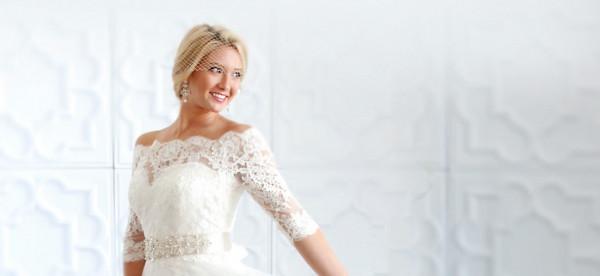 شاهدي: فستان زفاف بأكمام الدانتيل لعروس الربيع والصيف