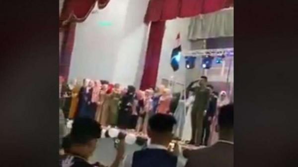 فيديو: النشيد الوطني السابق يتسبب باعتقال منظم حفلات جنوبي العراق