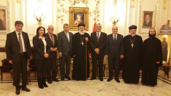 شؤون الكنائس بفلسطين يطلع وزير الاوقاف ومفتي سوريا على الاوضاع