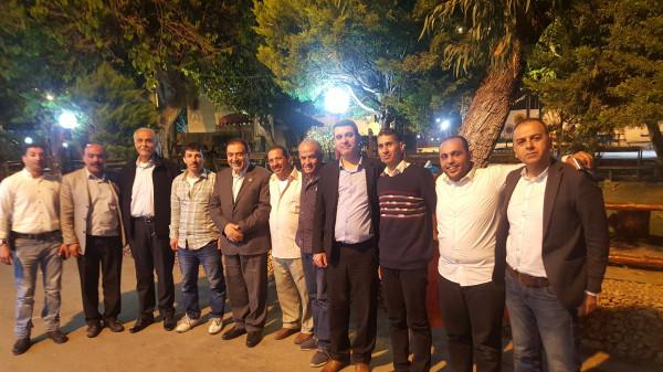 المصري يستضيف إدارة ولاعبي نادي أهلي قلقيلية على وجبة عشاء