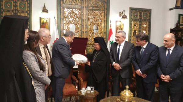"""""""اللجنة الرئاسية العليا لشؤون الكنائس"""" تلتقي نائب وزير الخارجية السوري"""