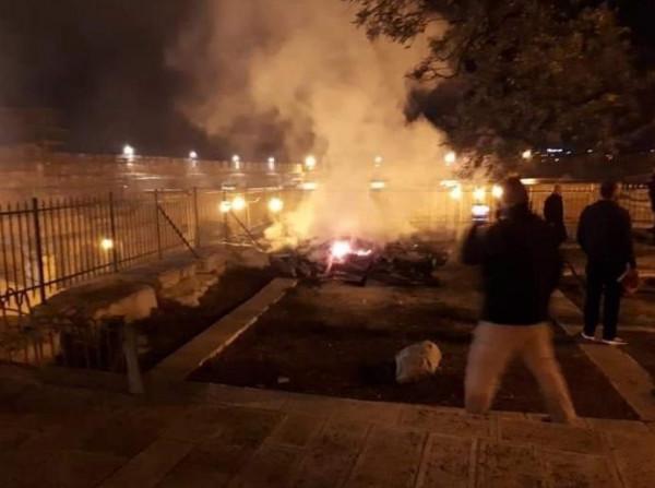 اندلاع حريق في المصلى المرواني بالمسجد الأقصى والرئيس عباس يستنكر