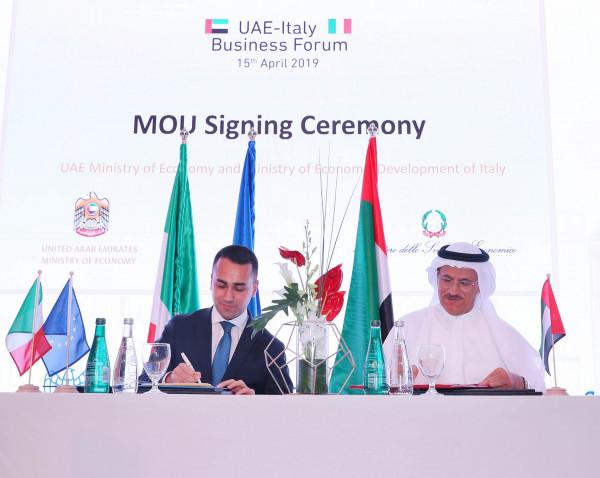 ملتقى الأعمال الإماراتي الإيطالي يناقش فرص الشراكة بالطاقة المتجددة والتكنولوجيا والبنية التحتية