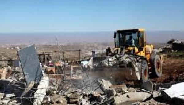الاحتلال يهدم خيمة سكنية في سوسيا جنوب الخليل