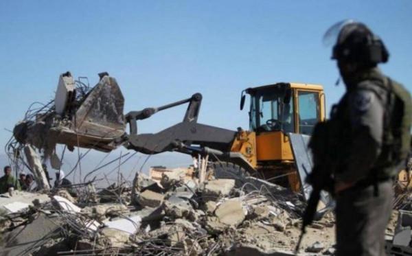 الاحتلال يهدم منزلا قيد الإنشاء على مدخل جبارة جنوب طولكرم